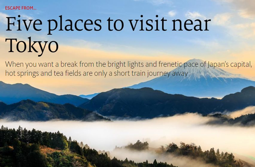 Five Places to Visit Near Tokyo - Economist 1843