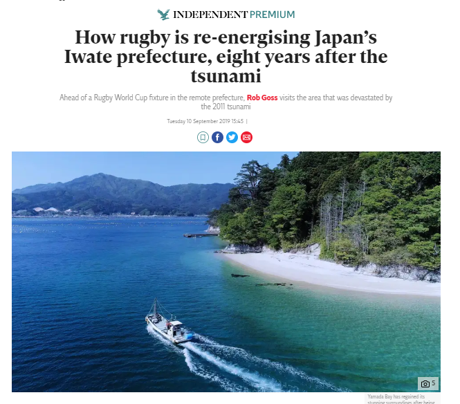 How Rugby is Re-energizing Iwate, Eight Years After the Tsunami - The Independent
